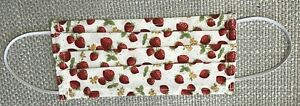 Mouth Face Mask Protection Washable Reusable Cotton Strawberry Floral Adult -UK