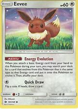4X POKEMON SUN & MOON CARD: EEVEE - 101/149