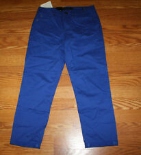 NWT Womens Calvin Klein Slim Fit Skinny Crop Splendor Blue Pants Size 14