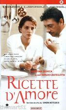 Ricette d'amore (2001) VHS CGG  1a Ed. -  Castellitto Martina Gedeck