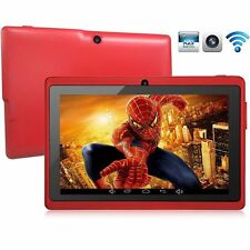 "Red 8GB 7"" Android 4.4 Tablet PC for Kids Children A33 Quad Core Kid MID WiFi"