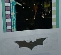 THE DARK KNIGHT Movie Authentic Film 5-Cells Strip THE BAT CYCLE