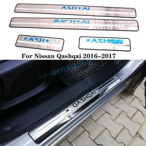 Car Door Sill Covers Scuff Plate Protector Trim For Nissan Qashqai 2016-2017