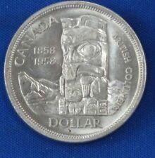 1958 Canada BU Totem Pole Silver Dollar B1126