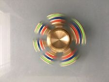 Rainbow Heavy Brass Removable Pegs Hand Fidget Spinner - Trusted USA Seller