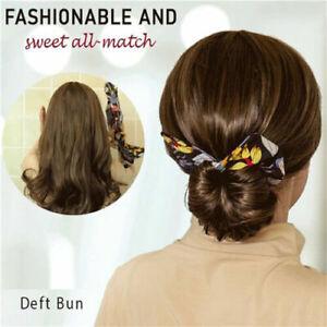 Deft Bun 6 Colors Fashion Hair Bands Women Summer Knotted Ha Print Wire KJ