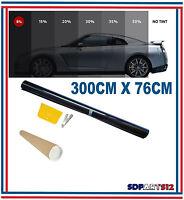 Film solaire Noir de qualite, 76cm x 3 m,  teinté 5% VLT (76SDB1) auto,batiment