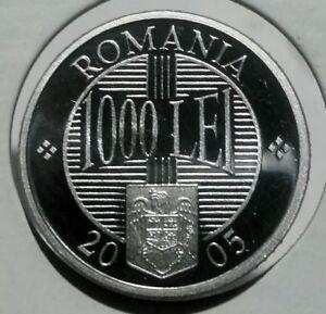2005 Romania 1000 Lei Proof. Mintage 2000. Rare