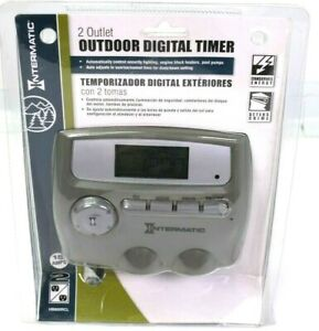 Intermatic HB800RCL Outdoor Digital Timer 2 Outlet 15 Amps Auto Adjusts
