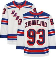 Mika Zibanejad New York Rangers Autographed White Adidas Authentic Jersey