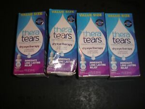 4 THERA TEARS  EYE DROPS, 120ML TOTAL, NEW SEALED READ COMMENTS