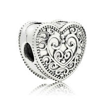 Authentic Pandora Charms Enchanted Heart Sterling Silver Bead 797024