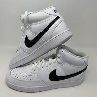 Nike Court Vision MID Men's Size 13 White Black CD5466-101