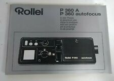 Rollei P360 A P360 Autofocus In Practical Use Instruction Manual Booklet Guide