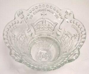 Vintage Queen Elizabeth II 1953 Coronation Glass Bowl 20 cm Diameter #135