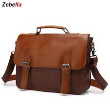 Genuine Leather Men's Briefcase Bag Messenger Bags Shoulder Bag Tote Handbag