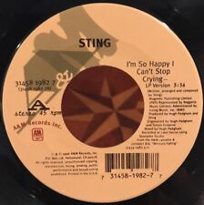 "Sting ""I'm So Happy I Can't Stop Crying"" 45 (1996) A&M Records 