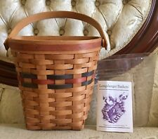 Longaberger 1993 Shades of Autumn Harvest Basket w Protector