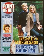 Point de Vue 9/01/2002; Maxima et Willem-Alexander le mariage royal/ Sonja