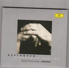 CLAUDIO ABBADO berliner philarmoniker - beethoven symphonien nos. 1 & 2 CD