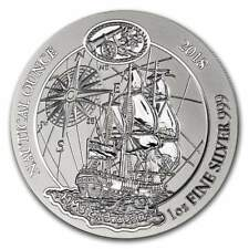 NAUTICAL OUNCE HMS ENDEAVOUR RWANDA 2018 1 oz Pure Silver Coin SEALED