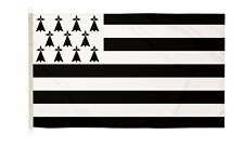 More details for duraflag  brittany france 5ft x 3ft flag with clips and hooks