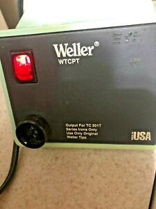 Weller WTCPT Soldering Station PU120T and TC201T Iron With Stand And Tip.