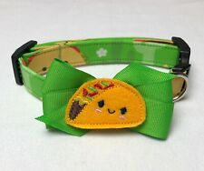 Taco Time Dog Collar Size XS-L by Doogie Couture