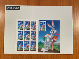 1997 Bugs Bunny Sheet of 10 Stamps US 32¢ Scott 3137 MNH Sealed