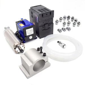 4.5KW Spindle Motor φ125*298mm ER25 &Bracket Pump CNC Kit Water-cooled 220v/380V