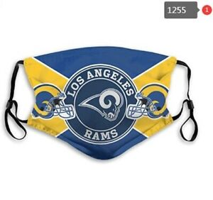 Los Angeles Rams Face Mask - Re-useable, Fashionable, Several Styles