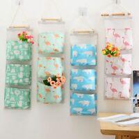 Flamingo Wall 3 Pockets Door Home Hanging Storage Bag Linen Organizer Pouch