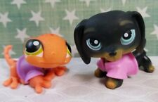 Littlest Pet Shop #325 Dachshund #326 Gecko Set & Accessorie LPS