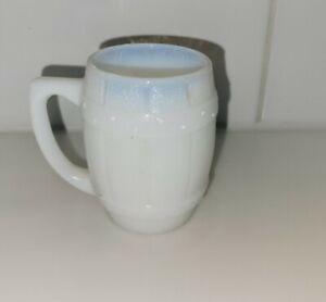 Antique Opal/Milk Glass Barrel Toothpick/Mini Mug Ca. 1900