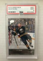 2015 Upper Deck Young Guns Jack Eichel PSA 9 MINT Rookie Card RC #451 Sabers