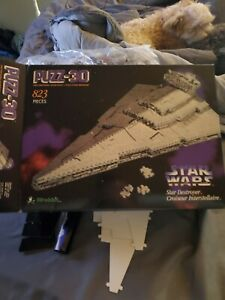 Star Wars Imperial Star Destroyer Puzzle 3D  823 Piece 1996