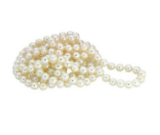 "FRESHWATER CULTURED PEARL WHITE COLOR 72"" NECKLACE"