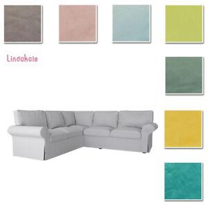 Custom Made Cover Fits IKEA EKTORP  2+2 Corner Sofa, 4 Seat, Velvet Fabric