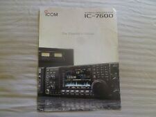 ICOM IC7600 Transceiver company Brochure color with  features Specs