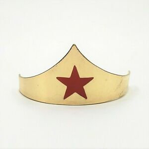 Wonder Woman Mini Crown Gold Comb Red Star Metal Headband Tiara Costume Cosplay