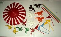 Vintage 1971 Wilton Carousel Cake Topper-Horses,Clowns,Flags-Complete Set