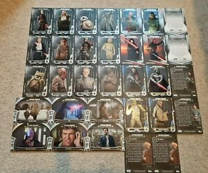 Topps Masterwork Trading Card Set Green Purple Blue Limited edition Star Wars