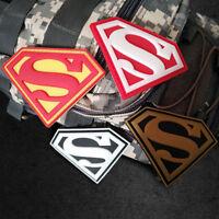 4 PCS GLOW SUPER MAN SUPER HERO MILSPEC AIRSOFT TACTICAL MORALE PVC PATCH