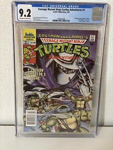 Teenage Mutant Ninja Turtles Adventures #1 1989 CGC 9.2 OFF WHITE TO WHITE PAGES