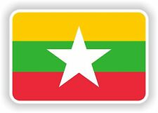 1x STICKER Burma Myanmar Flag Bumper Decal Car Fridge Tablet Door Bike Book