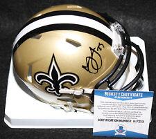 Marshon Lattimore signed Speed Mini Helmet, Saints, Ohio State, Beckett BAS