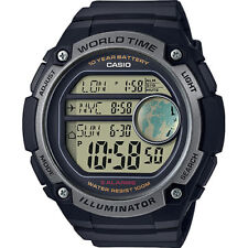 Casio AE-3000W -1 AVEF WORLD TIME 5-gli Allarmi Giornalieri Cronometro 100 M con R Watch Rrp £ 50