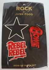 Lot of 20 Rock by Junk Food David Bowie Rebel Iron On Patch Set 3 Piece