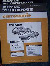 RTA REVUE TECHNIQUE SERVICE CARROSSERIE OPEL CORSA N° 82 1983