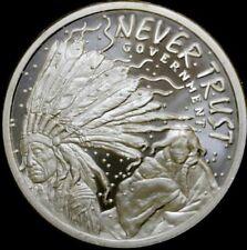 Silver Shield 2018 2 oz Bu .999 silver Never Trust Government in capsule